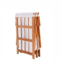 Bois de Bambou Blanchisserie entraver trieur Panier, portable et de vêtements de pliage panier pliable avec amovible de stockage