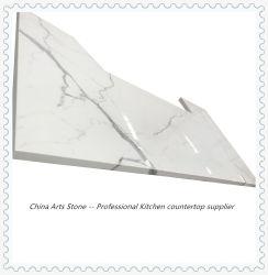 Künstlicher weißer Marmor/Glasmarmor/Glassteinjade-SteinNano Glas kristallisierter GlasCountertop für KücheCountertop (kein Antidumping für USA-Markt)
