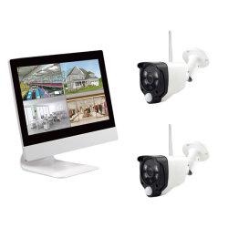 Écran LCD 10,1 pouces HD 1080P Caméra de sécurité WiFi 4CH de kit de moniteur NVR