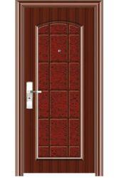 Ingresso garage interno in legno PVC in legno scorrevole in vetro di sicurezza Porta