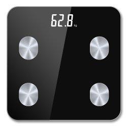 Escala de la grasa corporal de Bluetooth con pantalla LED y de la plataforma de vidrio templado