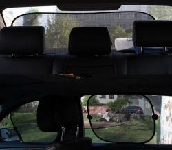 مجموعة مظلة الشمس للنوافذ المخصصة للسيارة الجانبية مع أكواب شفط