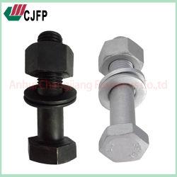 Dacromet ou noir le boulon hexagonal de traitement de surface résistant à haute température vis vis résistant à la corrosion