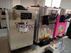 El cuadro Tipo de Helado que hace la máquina con 3 sabores