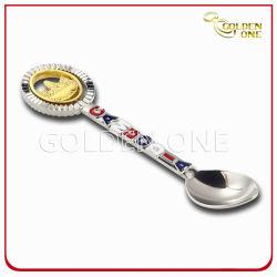 Grabado personalizado Logo Soft enamel cuchara Recuerdos de metal