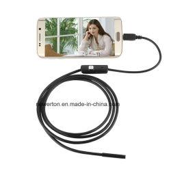 소형 크기 IP67는 인조 인간 전화 검사 사진기 2m 7.0mm 렌즈 내시경 검사 관 720p HD 마이크로 USB 소형 사진기를 방수 처리한다