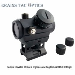 Earains Airsoft 1X28 beste 11 niveaus 3moa Compact Weapon Trophy Riser Hight Rail Mount Red DOT Scope Sight
