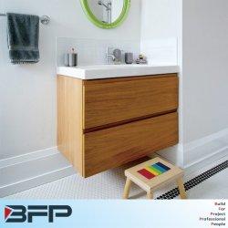 Tirar dedo moderno gabinete de vanidades de madera de diseño cuarto de baño muebles de casa en venta