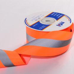 شريط من القماش التأملي باللون البرتقالي بحجم 5 × 1.5 سم
