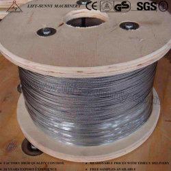 Câble en acier inoxydable 304/316 Aéronefs Wire Rope 1 X 19