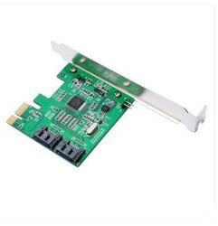 PCI-E 1X 16X PCI Express à 2 ports SATA 3.0 SATA III 6Gbit/s Carte d'extension