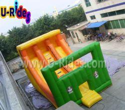 Comercial diapositiva inflable tobogán de agua juegos al aire libre para el alquiler de caso