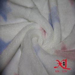 Coral de textiles de impresión de franela de lana tejido de flores