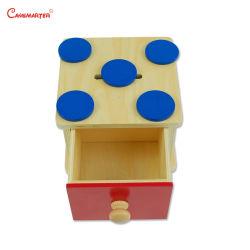 나무로 되는 교육 아이들 장난감이 작은 원형 Montessori에 Imbucare 상자에 의하여 농담을 한다