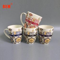 De beste Verkopende Fijne Thee van de Druk van het Overdrukplaatje van China van het Been van het Porselein vormt de In het groot Witte Mokken van de Koffie tot een kom