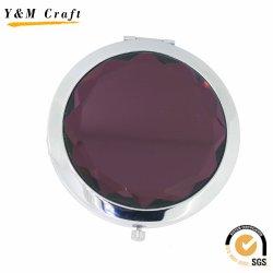 Круглая форма металлических дешевые Pocket/косметические зеркала заднего вида для рекламных подарков