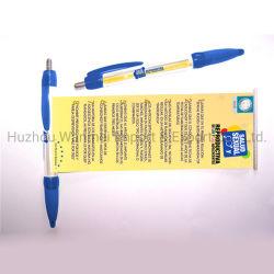 Promoção o logotipo personalizado impresso puxe para fora da esfera esferográfica de plástico canetas