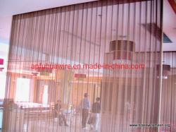 Liga de alumínio de cor dourada Cortina decorativas Malha