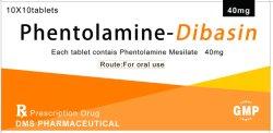 약제 GMP 공장 Regitine 경구 Dibasin 화학제품을%s Phentolamine Mesylate