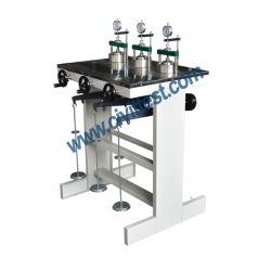Carregamento frontal de baixa pressão Testador Oedometer máquina de teste de consolidação do solo