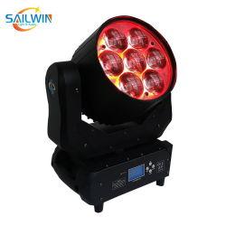 7 × 40W 4in1 RGBW DJ ステージ LED ムービングヘッドウォッシュライトズーム