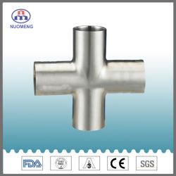 De sanitaire Montage van de Pijp van het Roestvrij staal: Het lange Type laste Gelijk Kruis (zoals-Nr. NM038199)