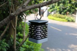 Op zonne-energie Kaars licht LED Camping Garden Yard Outdoor Hanging Lantaarnlamp