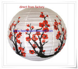 Pringting Flowers Taditional Paper cinese Lantern per Festival Decoration