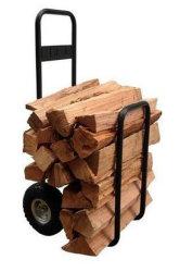 Prateleiras de armazenagem de lenha de aço com Rodas