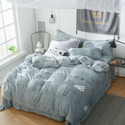 Microvezel Flannel Fleece Winter Bedding Beddenblad Duvet dekhoes set