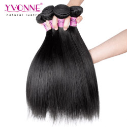 Commerce de gros hair extension Yaki Straight Virgin Remy Cheveux humains
