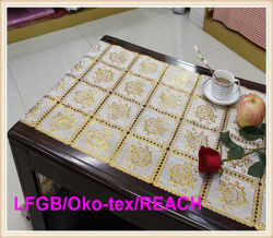 크로셰 뜨개질 PVC Roll Gold Long Lace 50cm Width Table Mat
