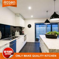Moderno personalizadas de pintura blanca brillante placa MDF laqueado Muebles Armarios de cocina