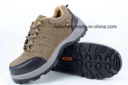 Замшевая отделка гладка рабочие ботинки из натуральной кожи/повседневная обувь с ячеистой конструкции