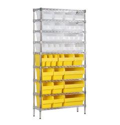 予備品の組織のための収納用の箱の金属線の棚付けの単位