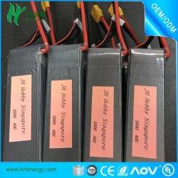 Lipo Batterie 5000mAh 22.2V 6s 40c Burst RC Pack de batterie au lithium-polymère pour hobby UAV