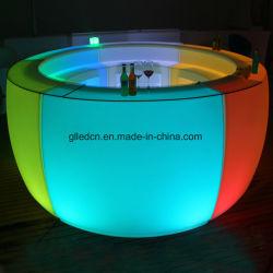 Muebles LED iluminado Tabla Barra Barra Grande y moderno diseño para el club de noche