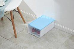 L'organisateur de chaussures en plastique multicolore & Storage Boîte avec couvercle