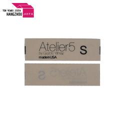 заводская цена Пользовательский логотип методом трафаретной печати белый хлопок метки