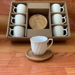 Arabisch logo Arab Europe Turkse middag Koffie Thee Fabrikant herbruikbaar Porseleinen bekers en Saucer-sets