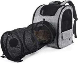 Venta caliente diseño exclusivo de la jaula de malla transpirable mascota llevar bolsa de Pet de tela