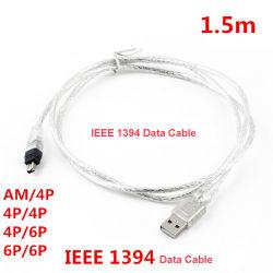 USB-1394 데이터 케이블 IEEE 1394 케이블 Firewire 순수한 동선