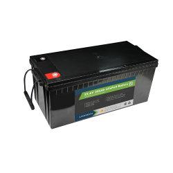 Courant de décharge Lithtech spécialement pour le système solaire batterie Lithium-ion intégré 24V 200Ah BMS Batterie au lithium LiFePO4