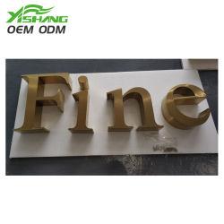 Aangepaste 3D-roestvrij-staal-brieven die, de Brieven van het Metaal, LEIDENE Tekens van letters voorzien