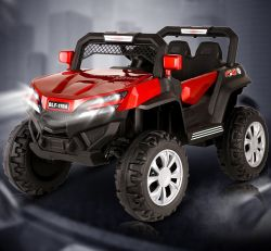 Los niños paseo en coche con niños de la batería La batería de coche operar el motor de giro de Vehículos Automóviles sentado y mando a distancia