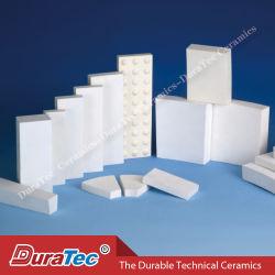 Ladrilhos cerâmicos em alumina extremamente resistentes ao desgaste resistente à abrasão Numa malha para resistência ao desgaste