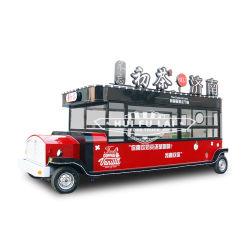 Comida de la calle de papel crepé eléctrico Diseño Carro de compras de café de alimentos móviles Camión de cocina con horno de pizza y wc