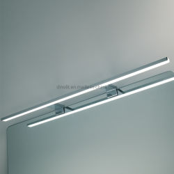 حمام طويل 74 سم بقوة 11 واط مع إضاءة على الحمام من الكروم المقاوم للمياه مصباح LED للأثاث المزود بمرآة أو خزانة مع RoHS من CE IP44