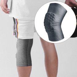 Protector de desportos aquáticos Protetor de joelho Sports suportam protecção exterior do esteio do joelho Fitness Basquete tecido elástico da Luva de compressão Silicone Almofada de joelho