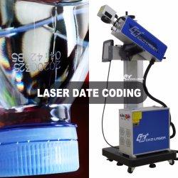 만료 날짜 인쇄 번호 코딩 로고 표시 레이저 기계 대상 플라스틱 물병 제약 화장품 PE PP 번호 지정 QR 바코드 시스템